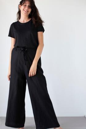 תמונה של מכנסיים פנמה שחור