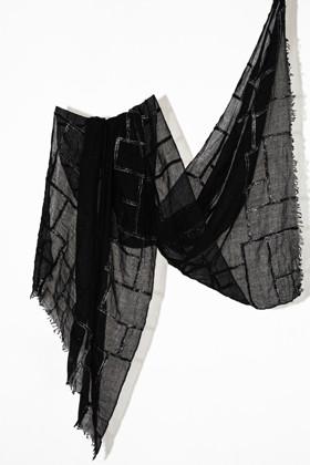 תמונה של צעיף SARTI שחור אפור