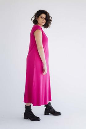 תמונה של שמלה פנינה פוקסיה