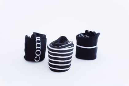 תמונה של שלישיית גרביים שחורים
