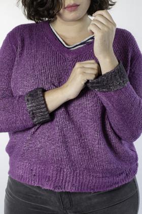 תמונה של Japan knit סגול